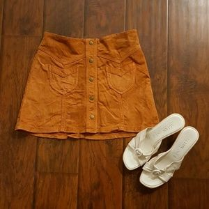 H&M Suede Skirt